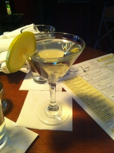 French Pear Martini: Elderflower liqueur, pear vodka, sparkling wine, lime juice
