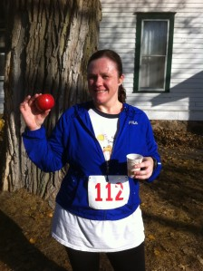 I ran for these apples: Haralson Apple + cider