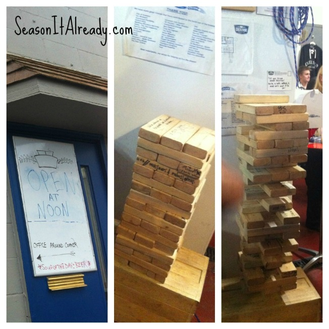 Soup of the Day = Beer & Jumbo Jenga at Excelsior Brewing