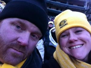 Rob and I at the December 23rd Packer game at Lambeau Field