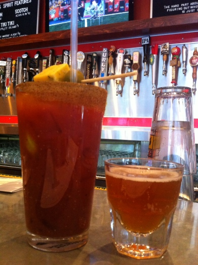 Bloody Mary and an IPA - my perfect combo
