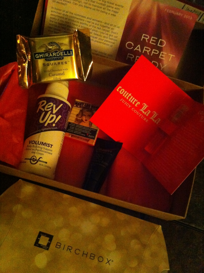 February 2013 BirchBox contents