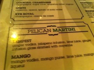 Miami-Pelican Martini