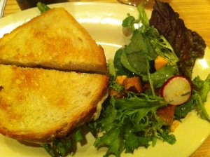 TOSSED SALAD aged cheddar, radish, toasted sourdough and shallot vinaigrette