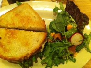 TOSSED SALAD aged cheddar, radish, toasted sourdough and shallot vinaigrette