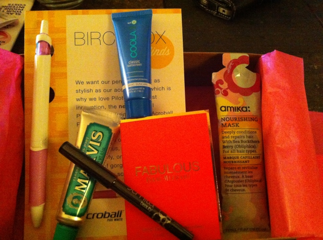 May 2013 Birchbox Contents