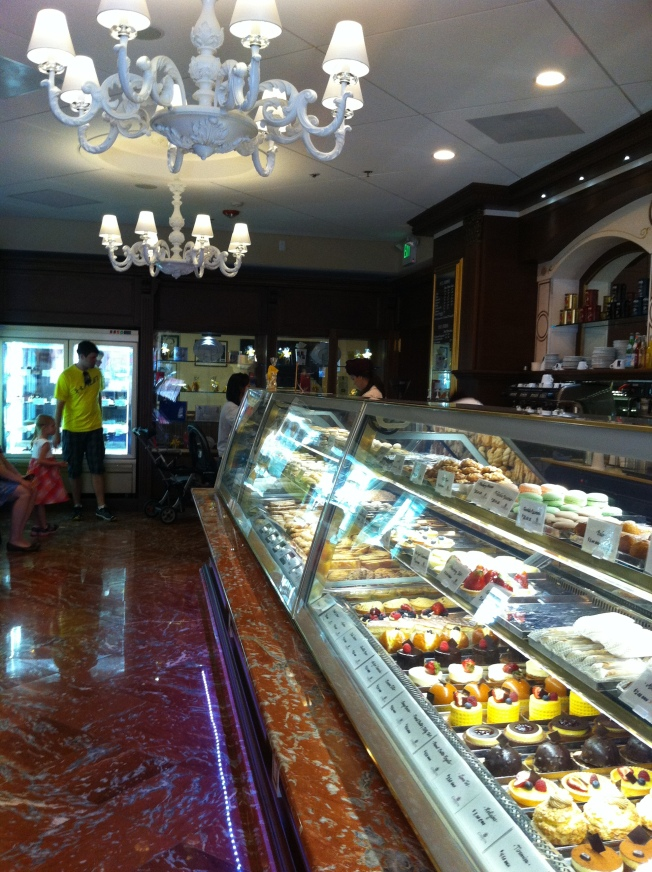 The pastry case feels like it is a mile long!