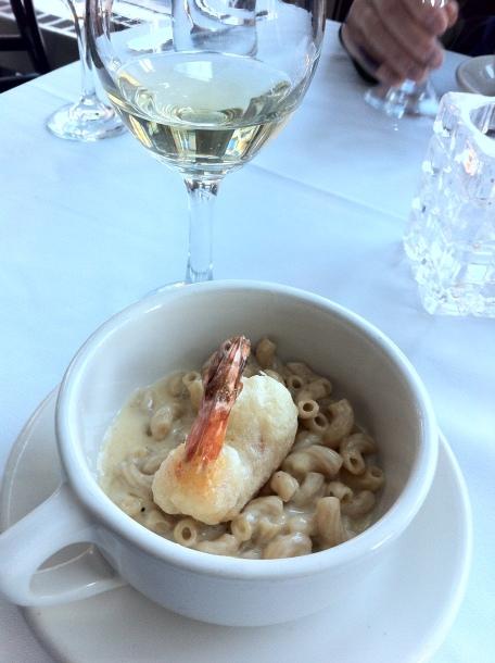 Mac & Cheese w/Tempura Shrimp