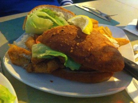 Fish sandwich...