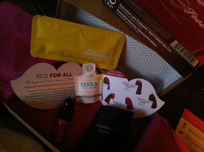 September Birchbox Contents