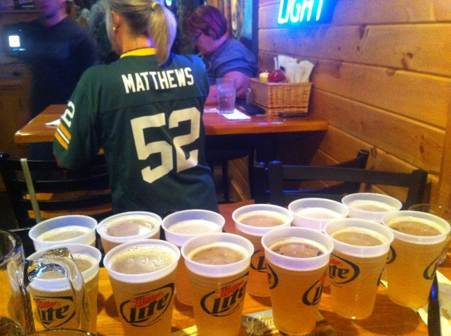 Packer Touchdown Beers