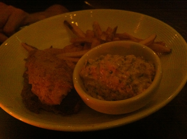 FISH & CHIPS. . . . . . . . . . . . 14 Cornmeal breaded MN perch, remoulade