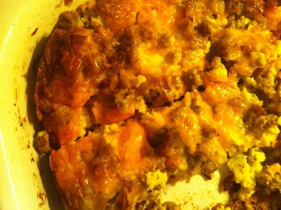 xmas sausage & egg bake