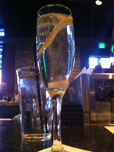 4 or A nge b L ossom sparkling wine, orange bitters, st germain elderflower liqueur