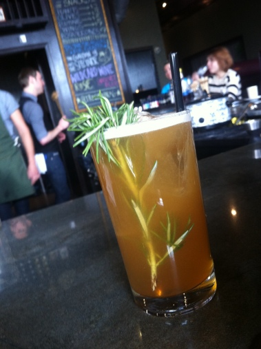 Polar Vortex; rosemary infused Cazadores Reposado, Amore Ramazzotti, pineapple, grapefruit, seltzer