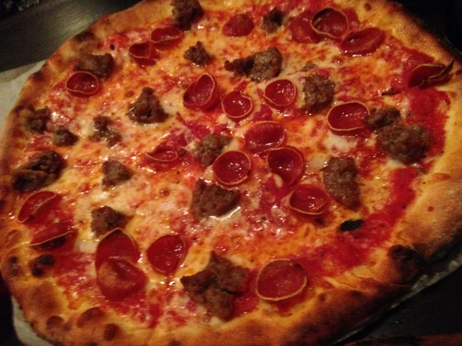 My Sha-Roni!* house red sauce, mozzarella, natural-casing pepperoni & house-made fennel sausage 15