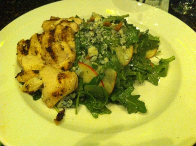 Rocket apples, arugula, spinach, lavender vinaigrette, spiced pecans, local blue cheese 7.5 / 13 + grilled chicken breast 4