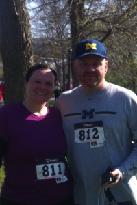 Carrie & Rob 5k 5.17.14