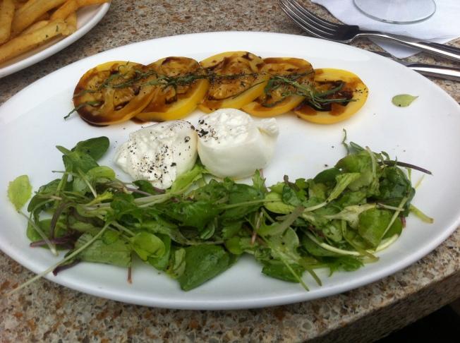 Caprese Salad yellow beefsteak tomatoes, basil, burrata 9.95