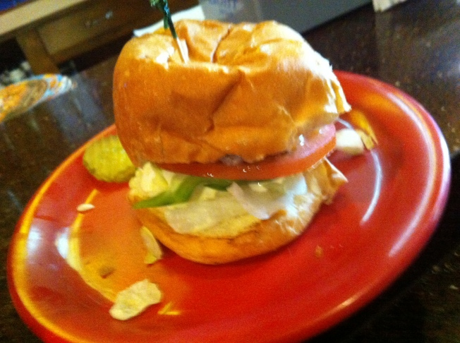 Slugger - American cheese, lettuce, tomato green pepper and homemade horseradish sauce.