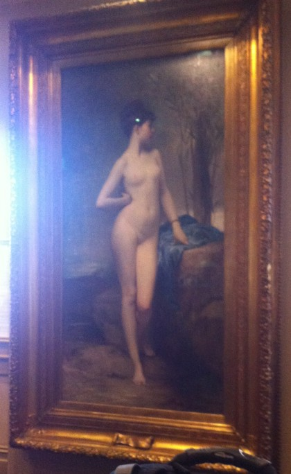 Chloe, has been  at the y&J since 1909. painted by Jules Joseph Lefebvre in 1875, arrived i