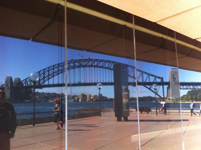Sydney Harbour Bridge Reflecting off Opera House
