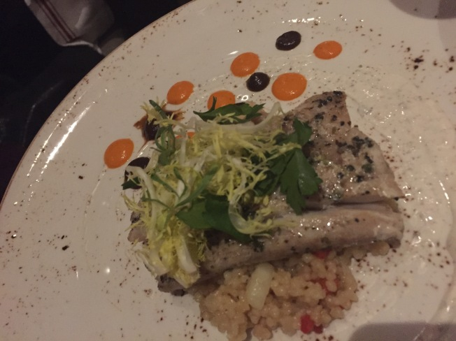 Slow Cooked Atlantic Cod* black garlic, za'atar spice, couscous 25