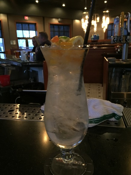 Sparkling White Sangria - House Made Sangria Topped with Sparkling Wine - $9