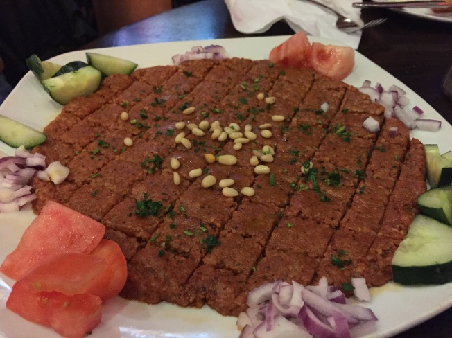 KIBBE NIYAH NEW 15 Middle Eastern spiced steak tartar.