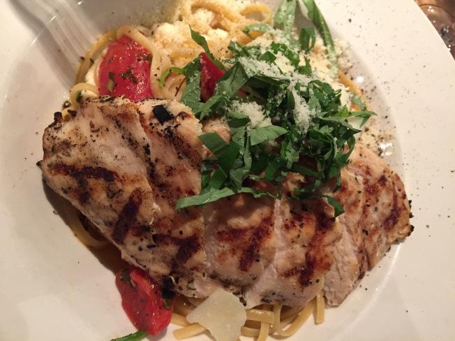 Linguine Alla SorrentinaLunch 12.95 & Dinner 13.95 Oven roasted tomatoes, fresh mozzarella, basil, spinach, aged Pecorino Romano