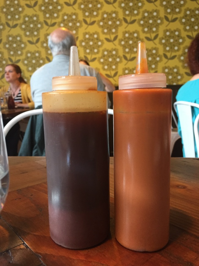 Carolina Vinegar BBQ & Sweet Potato-Habanero Sauce