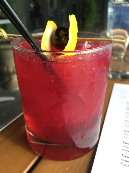 Purple Rain - gin, blueberry lavender shrub, soda -