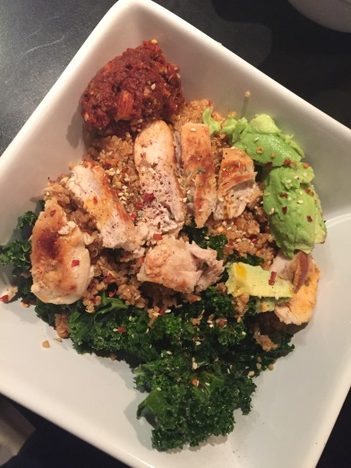Marinated Kale & Chicken Bowls with Sundried Tomato Sauce