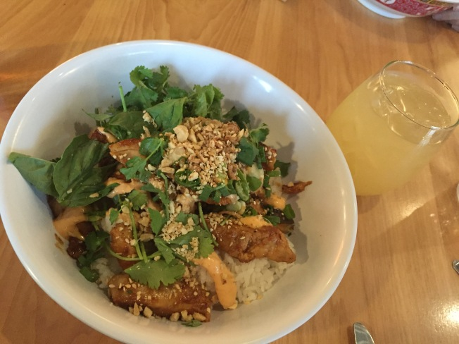 O.G.* Grilled Chicken (can be made gf) $10.25 with shiitake mushrooms, chinese broccoli, aromatic herbs