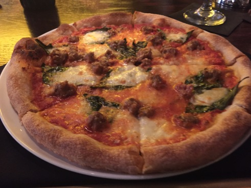 Salsiccia Pizza - Fennel Sausage, San Marzano Tomato Sauce, basil and fresh mozzarella cheese - $13.95