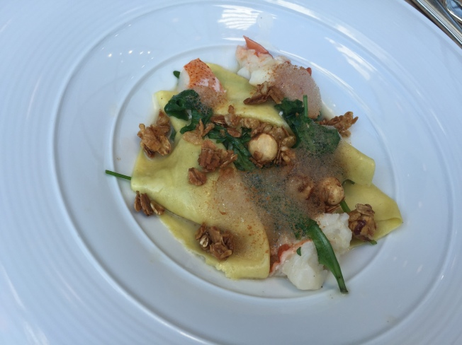 FAZZOLETTI with Poached Lobster, Hazelnuts & Saffron 12/19