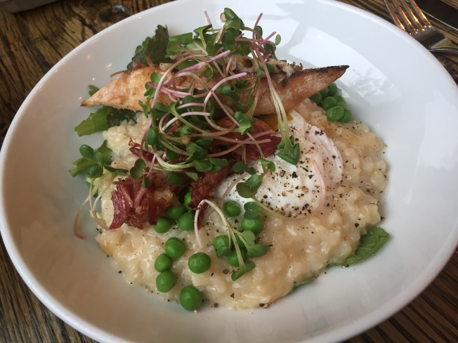 Lilac Risotto - with crispy ham hock